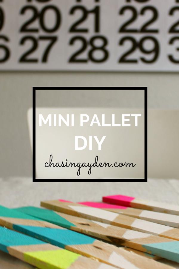 Mini Pallet DIY