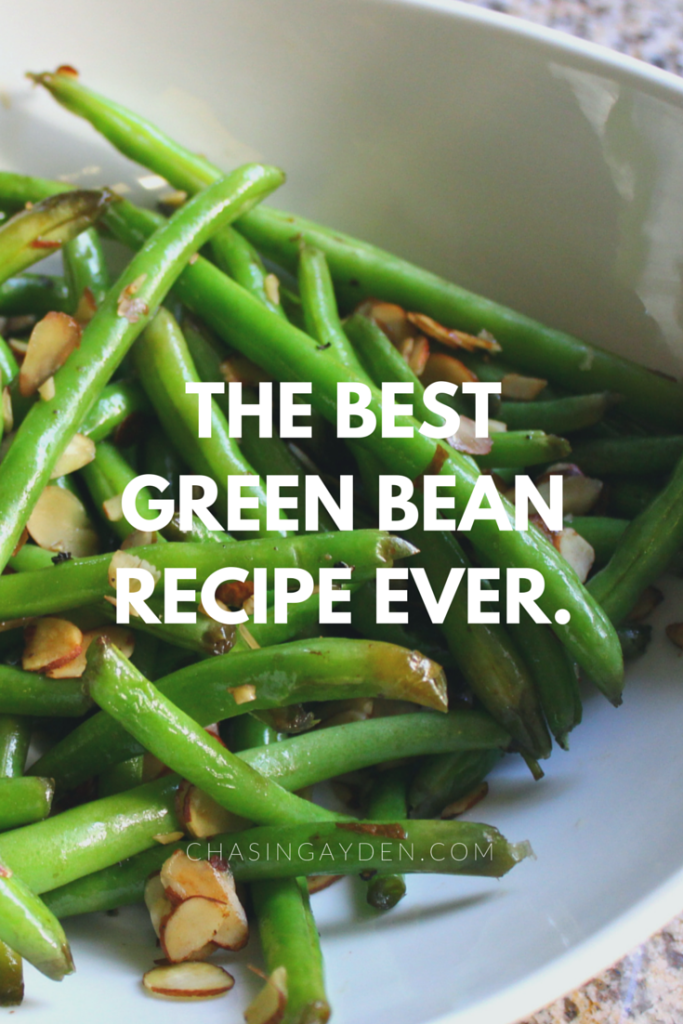The Best Green Bean Recipe EVER. This recipe uses one SECRET ingredient that will forever change how you cook veggies. Click here to find out what it is: https://chasingmcallisters.com/the-best-green-bean-recipe-ever