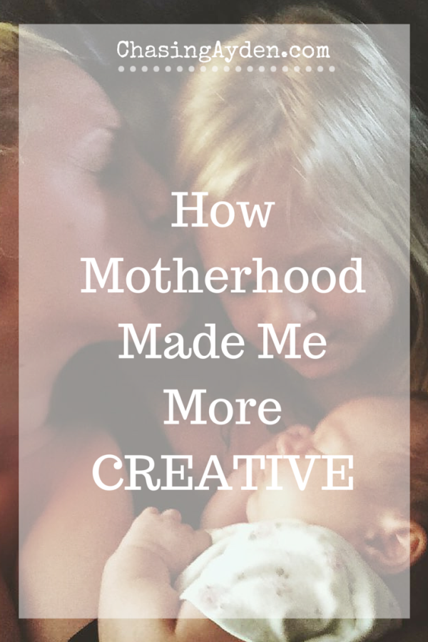 How becoming a mom made me a more creative person, and reconnected me to my authentic self. Are you blovked creatively? This is a blog post about how I became unblocked, and about how motherhood was the channel that allowed me to become my creative self. https://chasingmcallisters.com/how-motherhood-made-me-more-creative