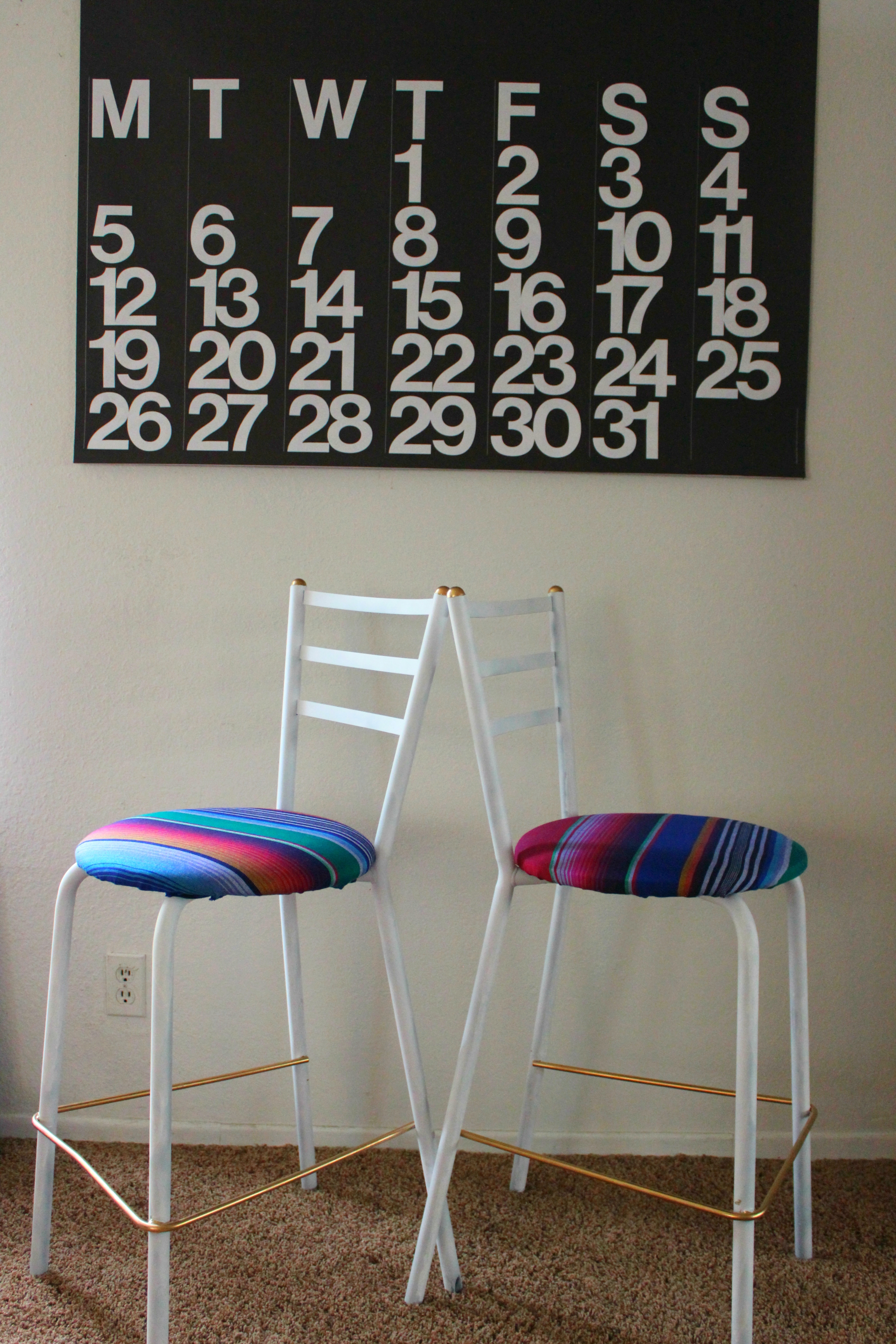 Bar stool Upcycle DIY || Learn how to convert an old chair or stool in to a beautiful, modern piece of furniture