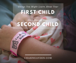 Adding another child in to your family can definitely come with some fun(ny) discoveries about your first child. Maybe you can relate:https://chasingmcallisters.com/first-child